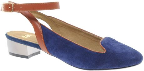 Asos Asos Lift Off Suede Ballet Flats in Blue (navy)