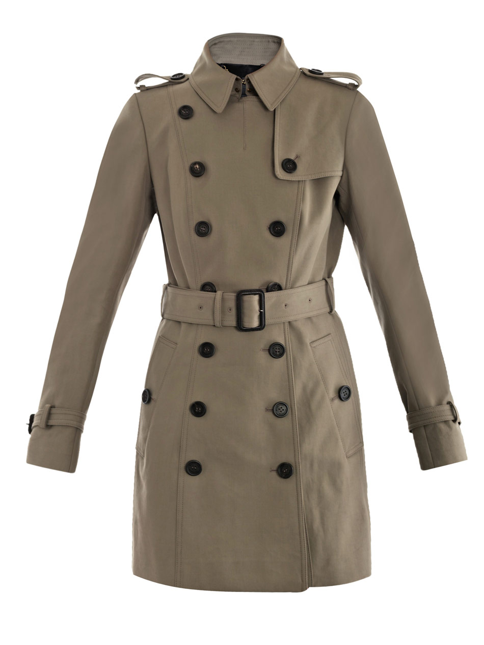burberry prorsum cotton trench coat in khaki lyst. Black Bedroom Furniture Sets. Home Design Ideas