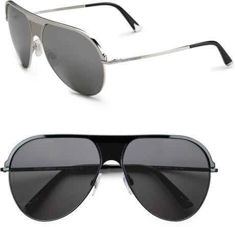 e93a6c82c4651 Dolce   Gabbana Aviator Sunglasses Black