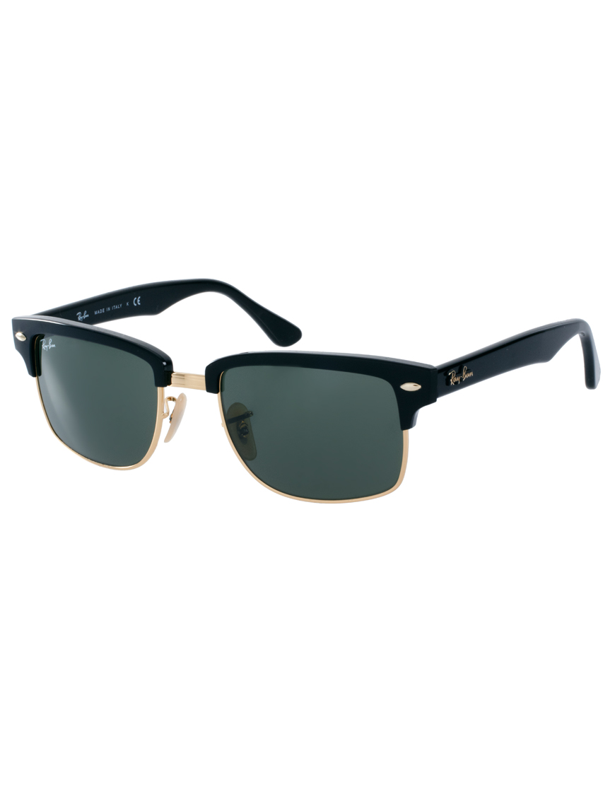 756b7c5675 Lyst - Ray-Ban Clubmaster Sunglasses in Black for Men