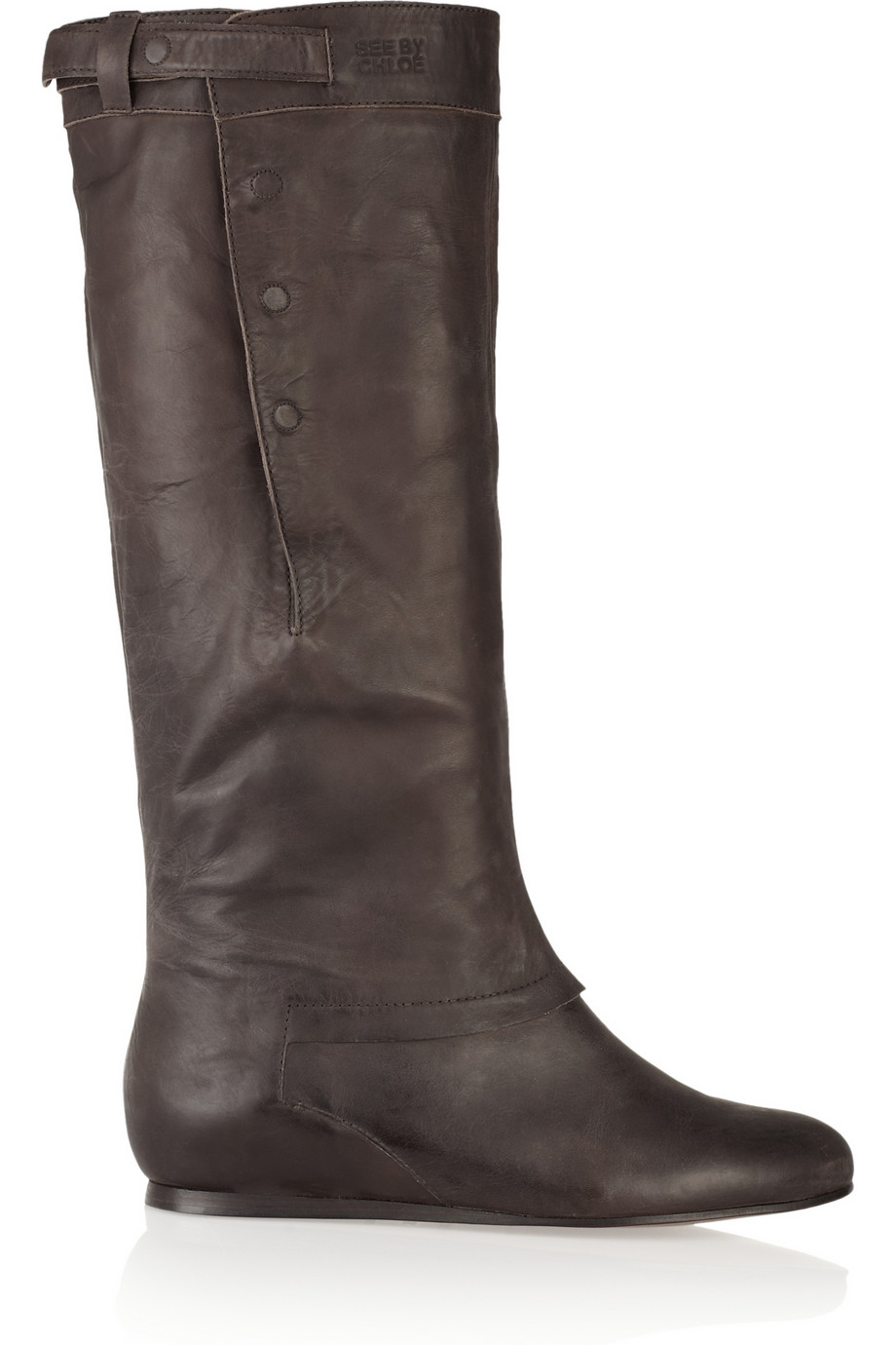 See By Chloé Leather Boots in Brown