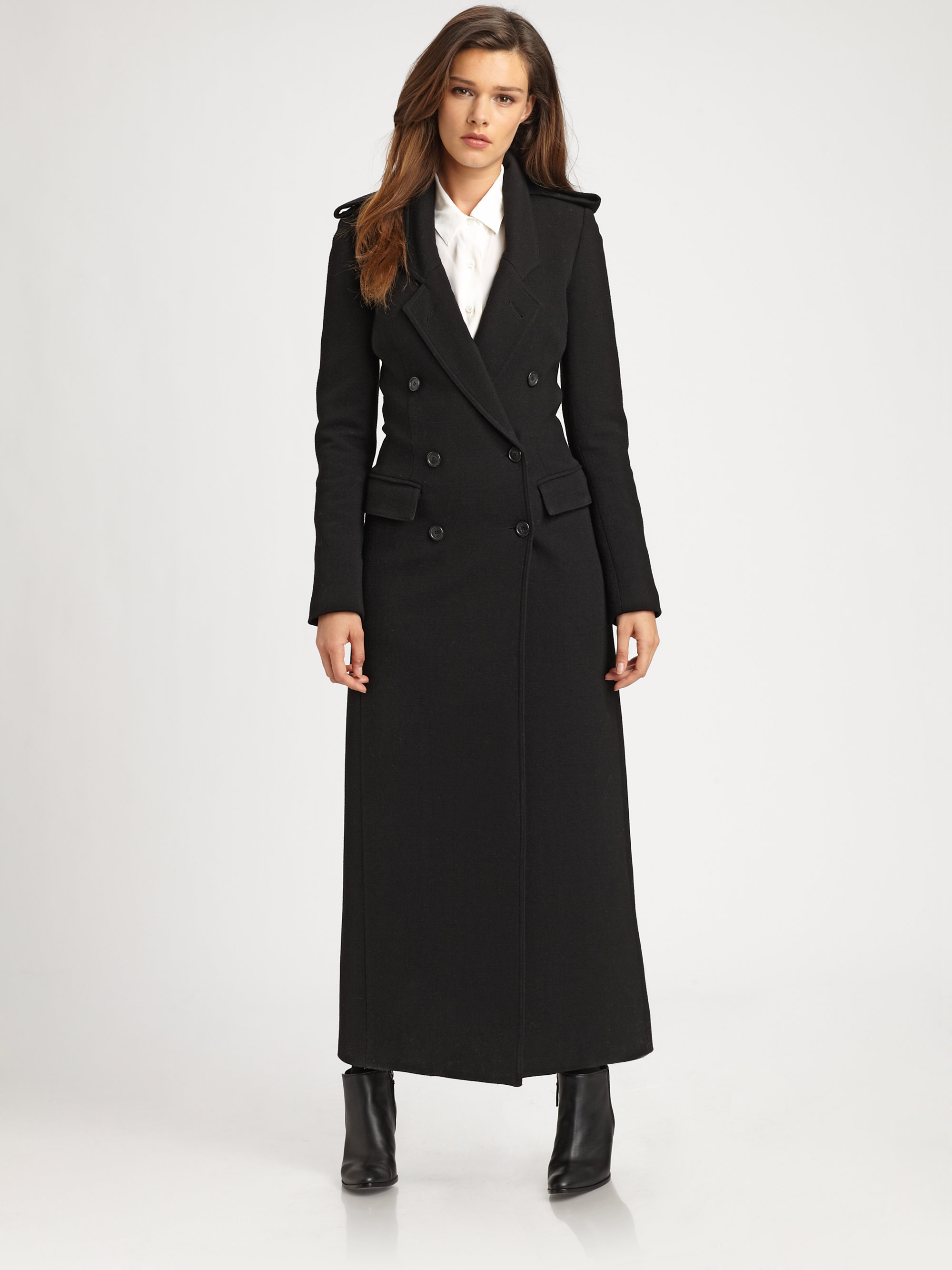 Lyst Smythe Tailored Maxi Coat In Black
