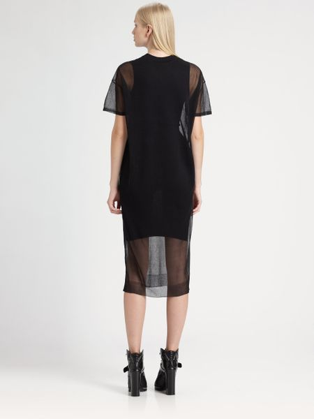 Alexander wang sheer layer dress in black