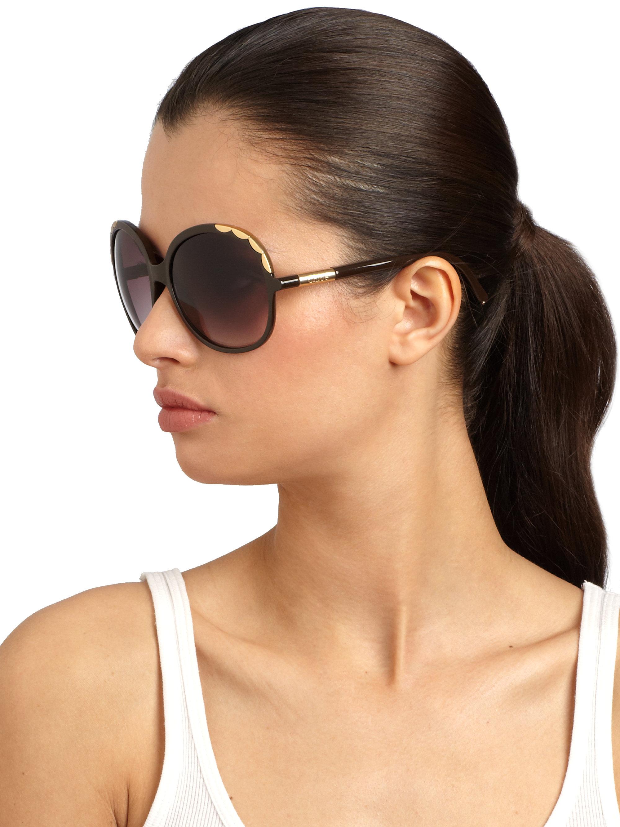 round oversized sunglasses - Metallic Chlo QPOZ3C