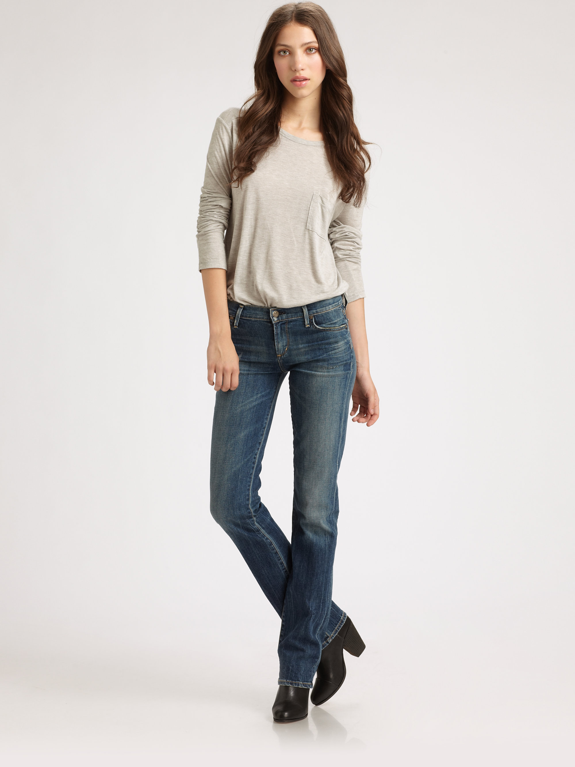 citizens of humanity ava straight leg jeans in purple. Black Bedroom Furniture Sets. Home Design Ideas