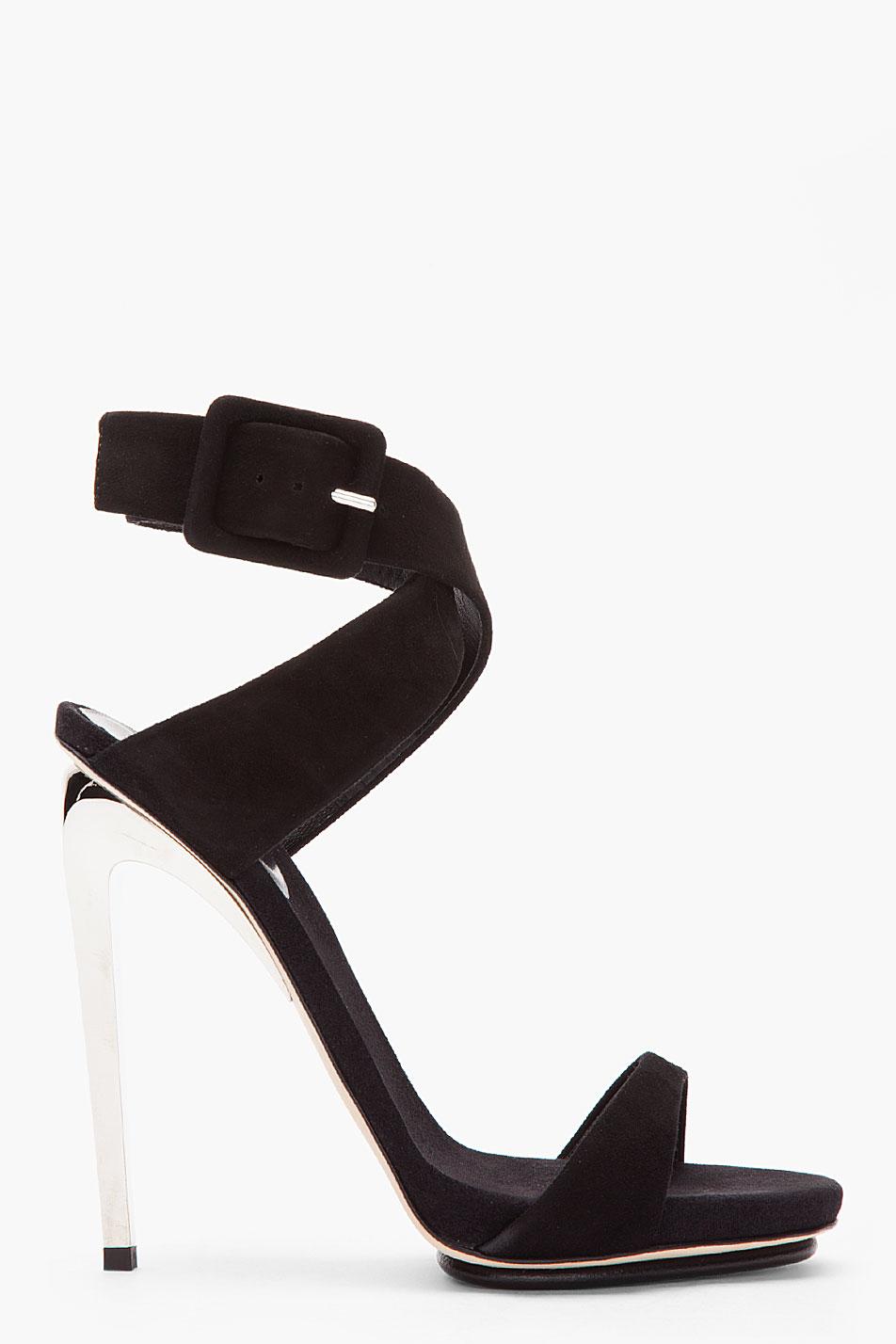 067e83a91ac Lyst - Giuseppe Zanotti Black Suede and Silver Alien 115 Heels in Black