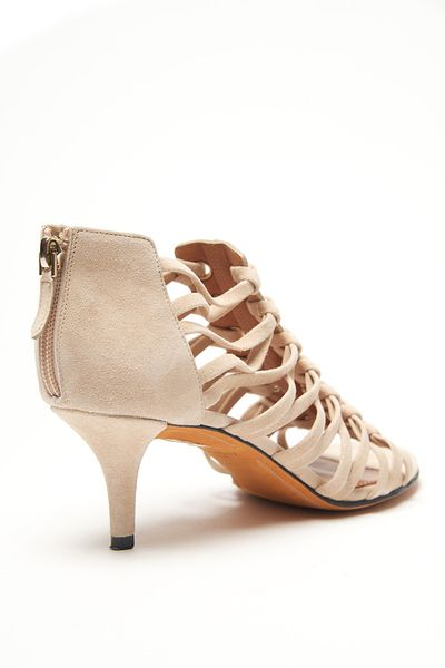 Givenchy Cage Strap Kitten Heel Sandal In Pink Sand Lyst