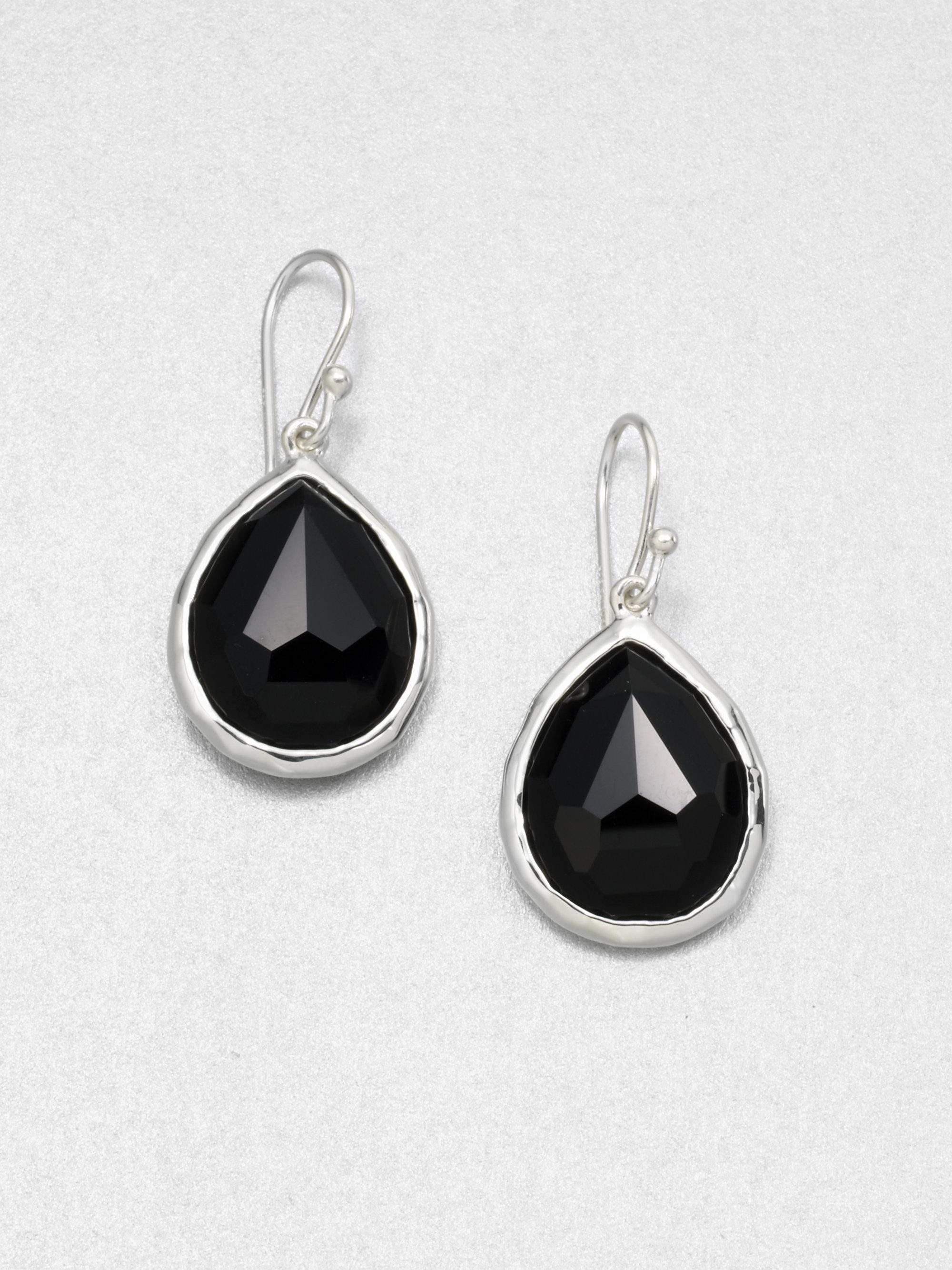 e2377ea12 Ippolita Black Onyx & Sterling Silver Small Teardrop Earrings in ...