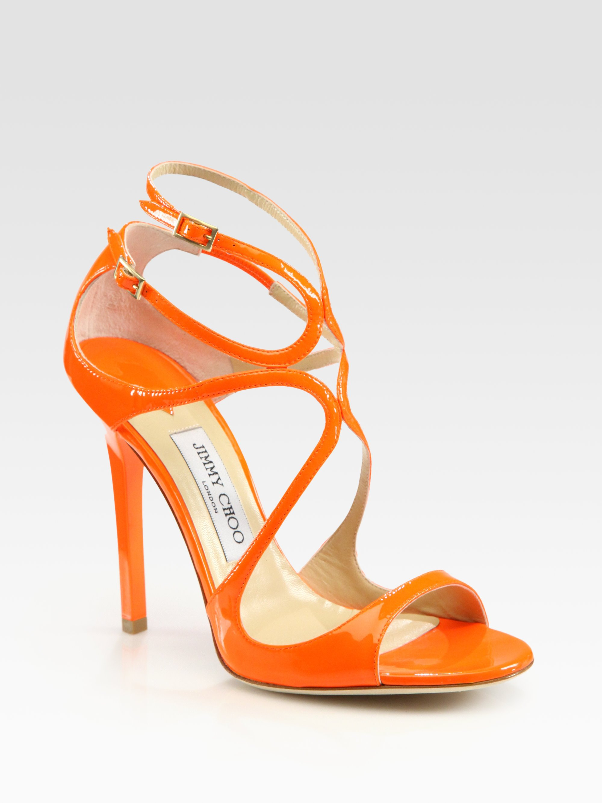 orange strappy shoes where can i buy