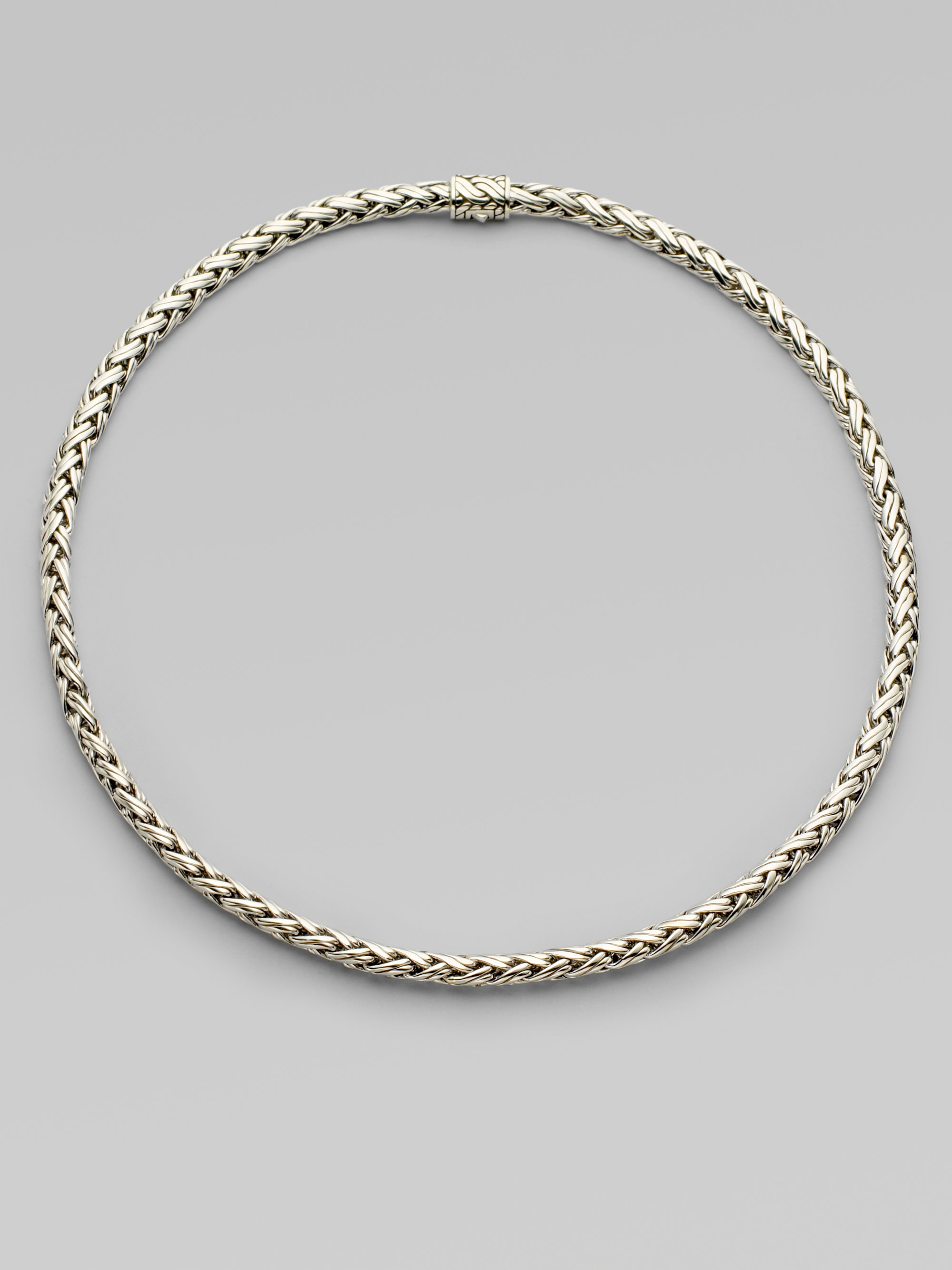 Lyst John Hardy Sterling Silver Small Braided Chain