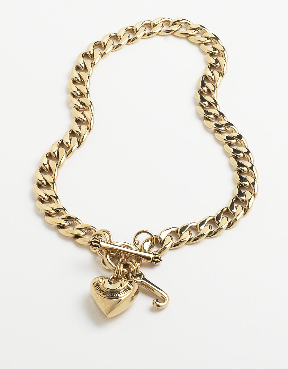 Juicy couture 14 kt gold plated starter charm bracelet in gold lyst