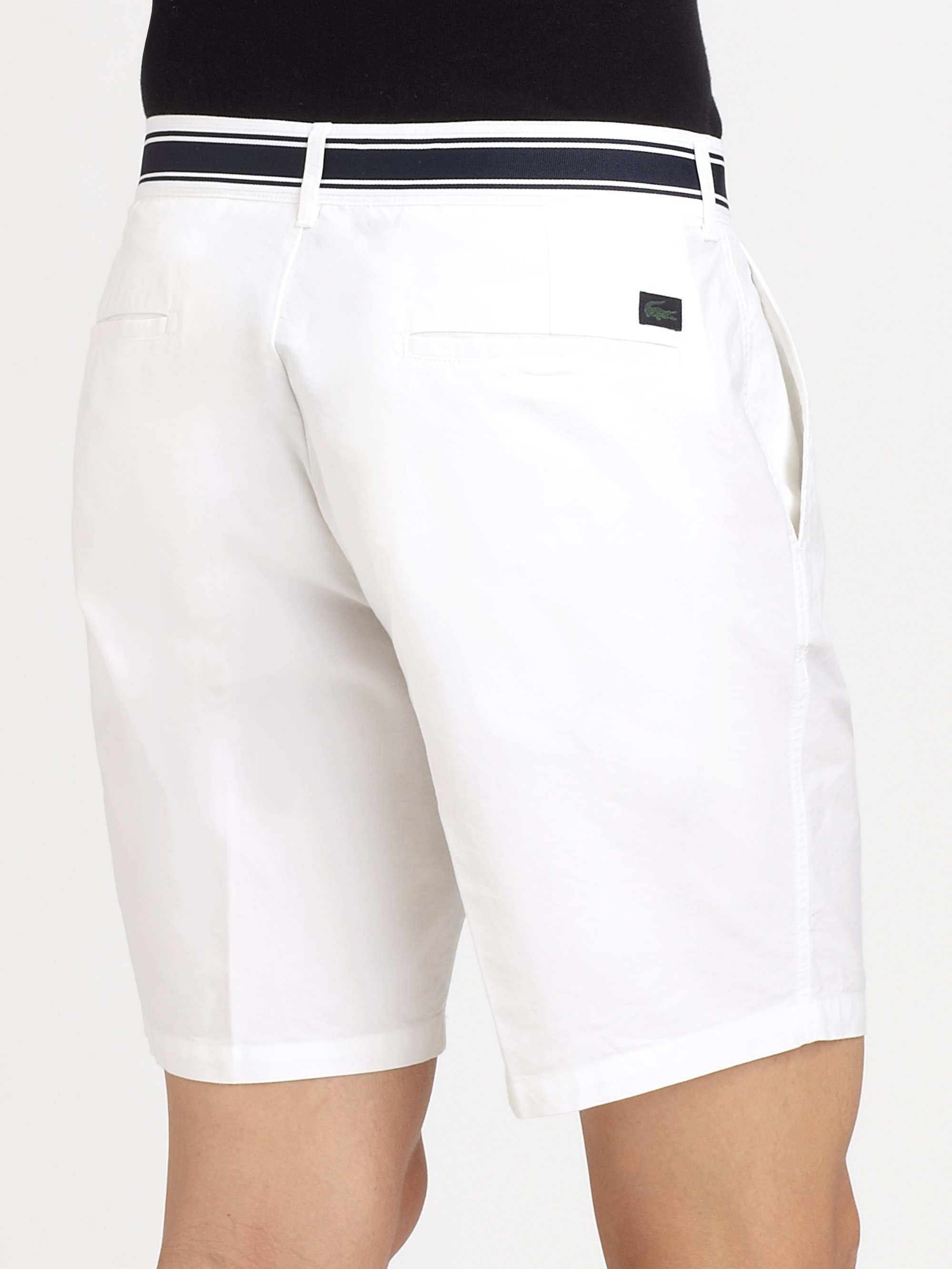 8a27fd4144e1 Lyst - Lacoste Flatfront Shorts in White for Men
