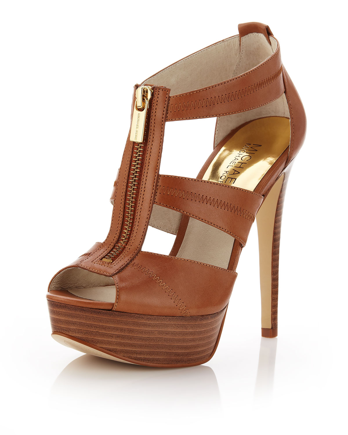 Michael Kors Brown Leather Shoes