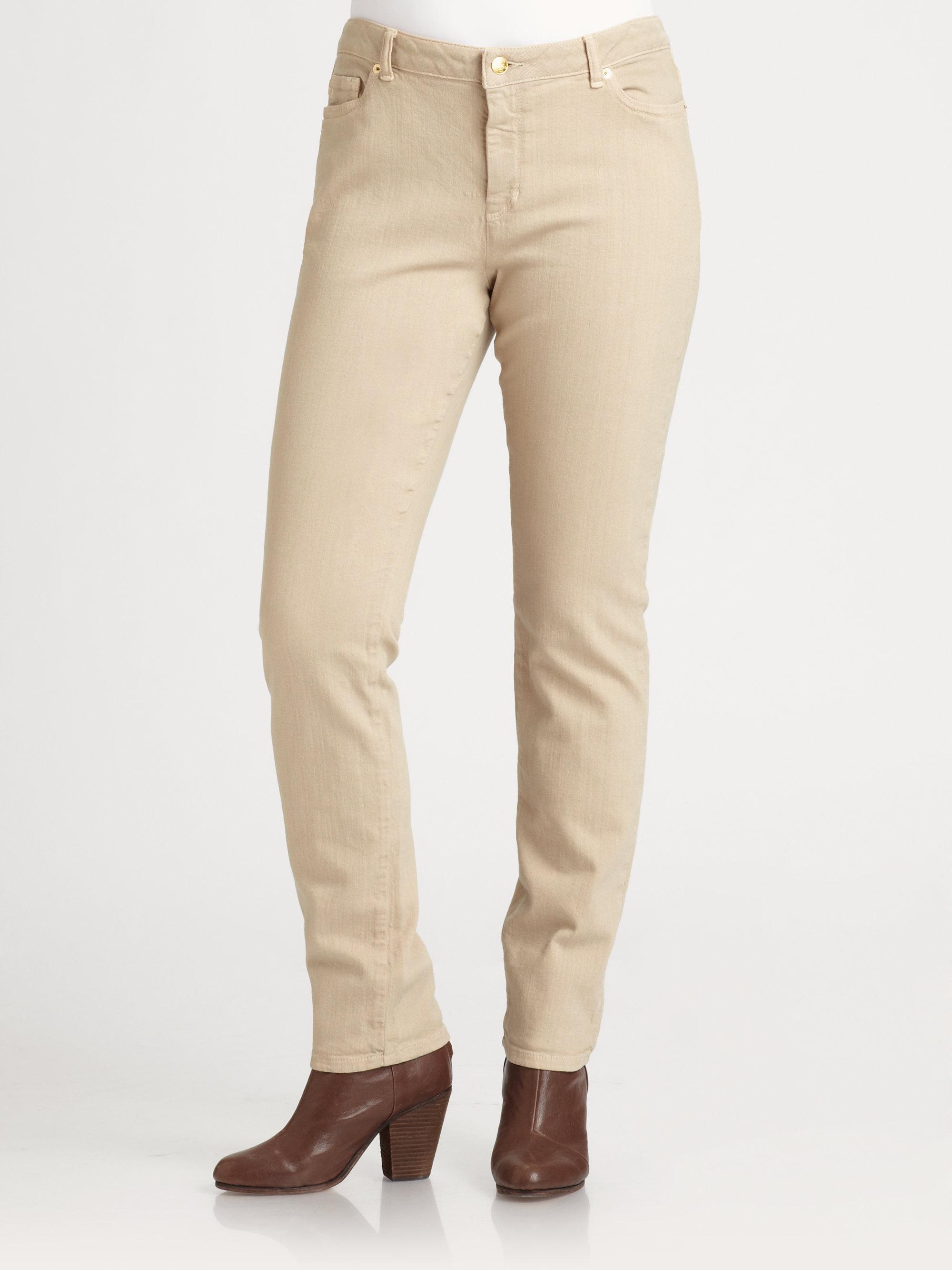 d6d47f4ec6006 Lyst - MICHAEL Michael Kors Skinny Jeans in Natural