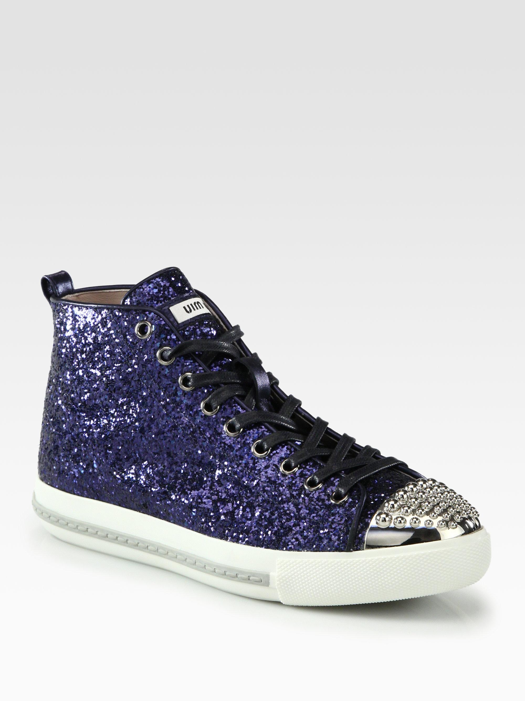 Miu Miu Glitter Low-Top Sneakers discount top quality low cost online buy cheap for sale nbQxDU