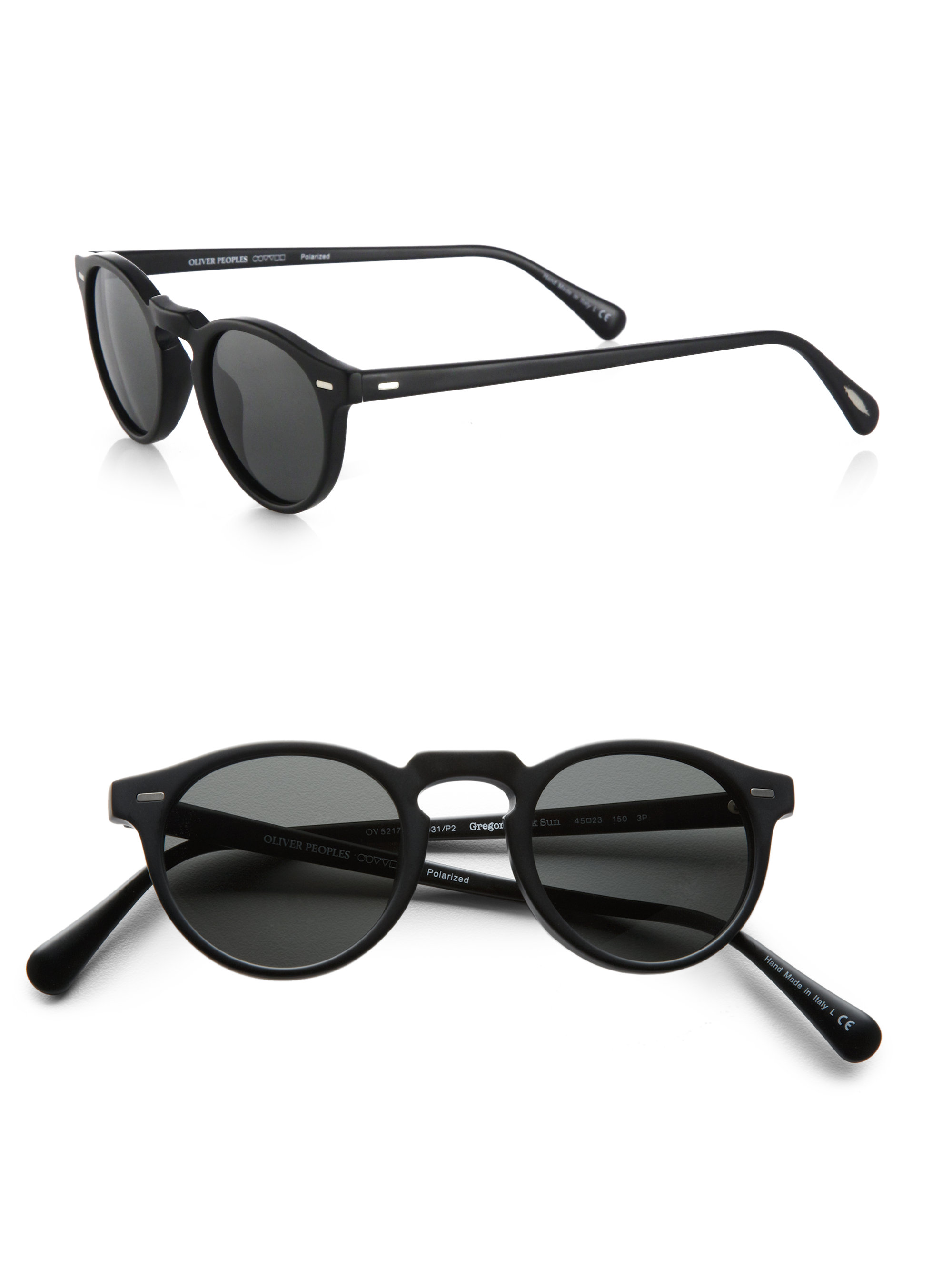 e9dbf28255c Lyst - Oliver Peoples Gregory Peck Sunglasses in Black for Men