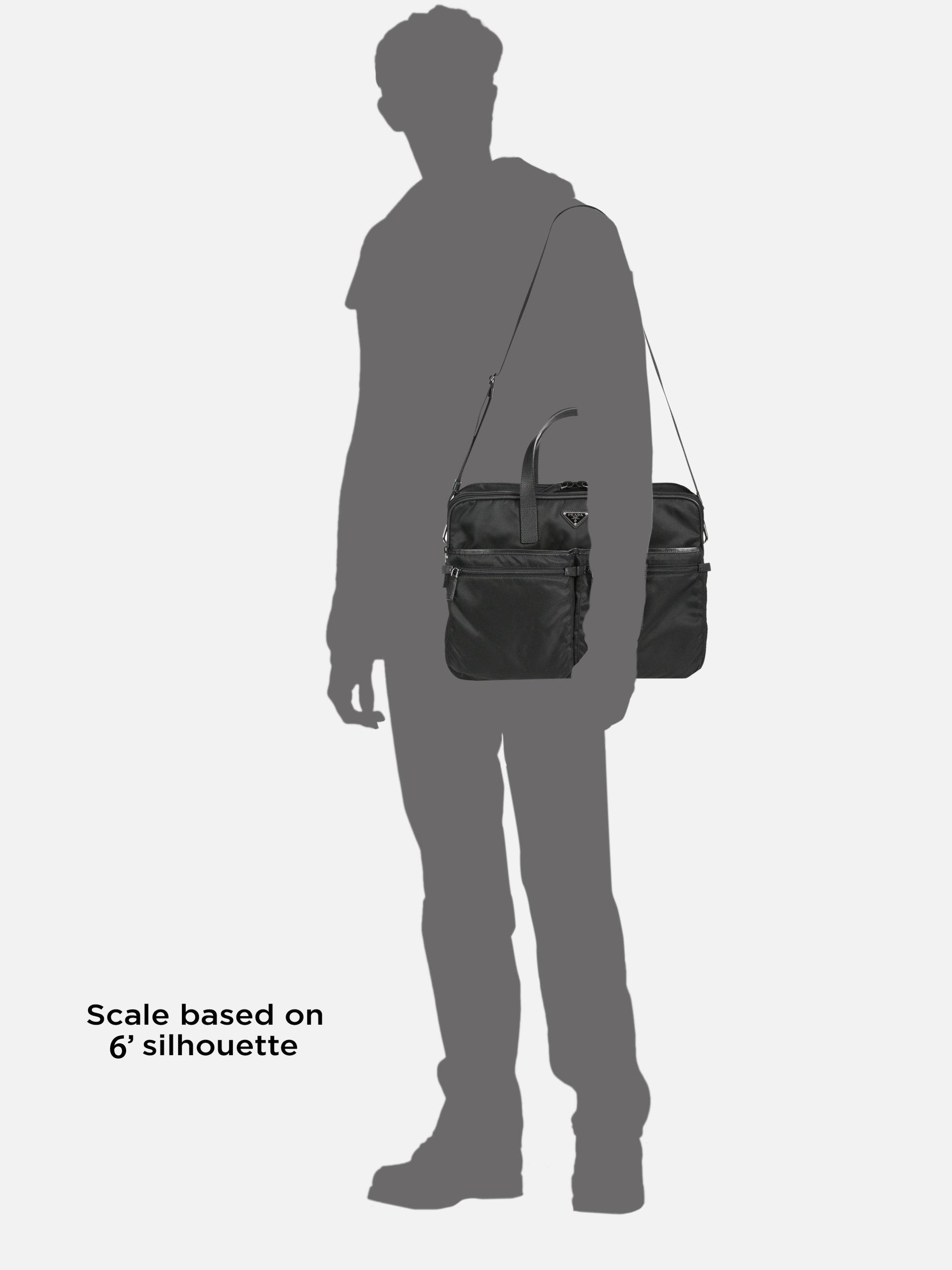 d28dfbcf05e4 spain prada briefcase saffiano black travel bag b68c2 07a34  hot lyst prada  nylon weekender bag in black for men b6716 b7d8b