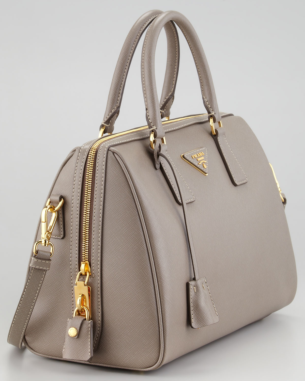 ... canada prada saffiano shoulder strap bowler bag in gray lyst fe8dd  4a6e3 release date prada womens saffiano lux executive tote ... 805288a4d972f