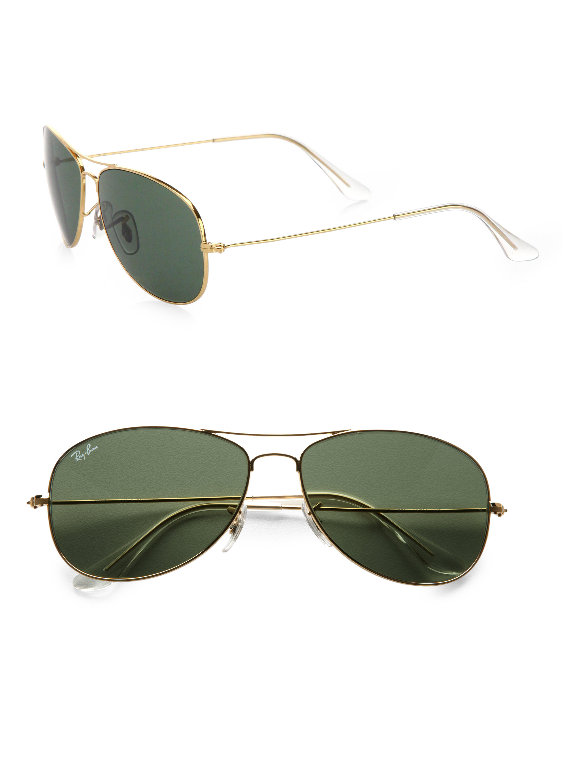 ray ban classic aviator sunglasses in black gold lyst. Black Bedroom Furniture Sets. Home Design Ideas