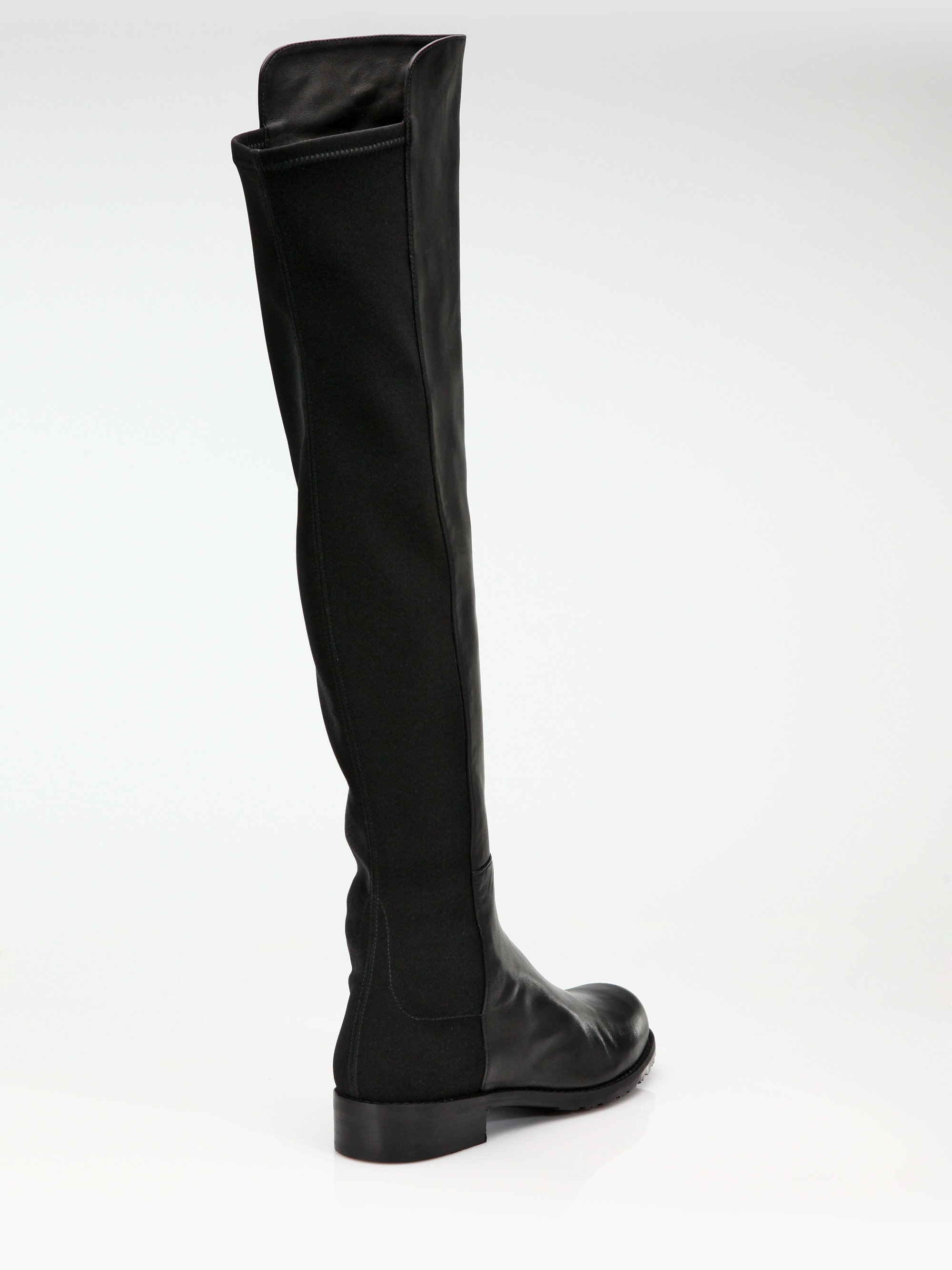 stuart weitzman nappa leather flat overtheknee boots in