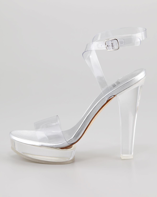 Lyst Stuart Weitzman Visual Clear Platform Sandal