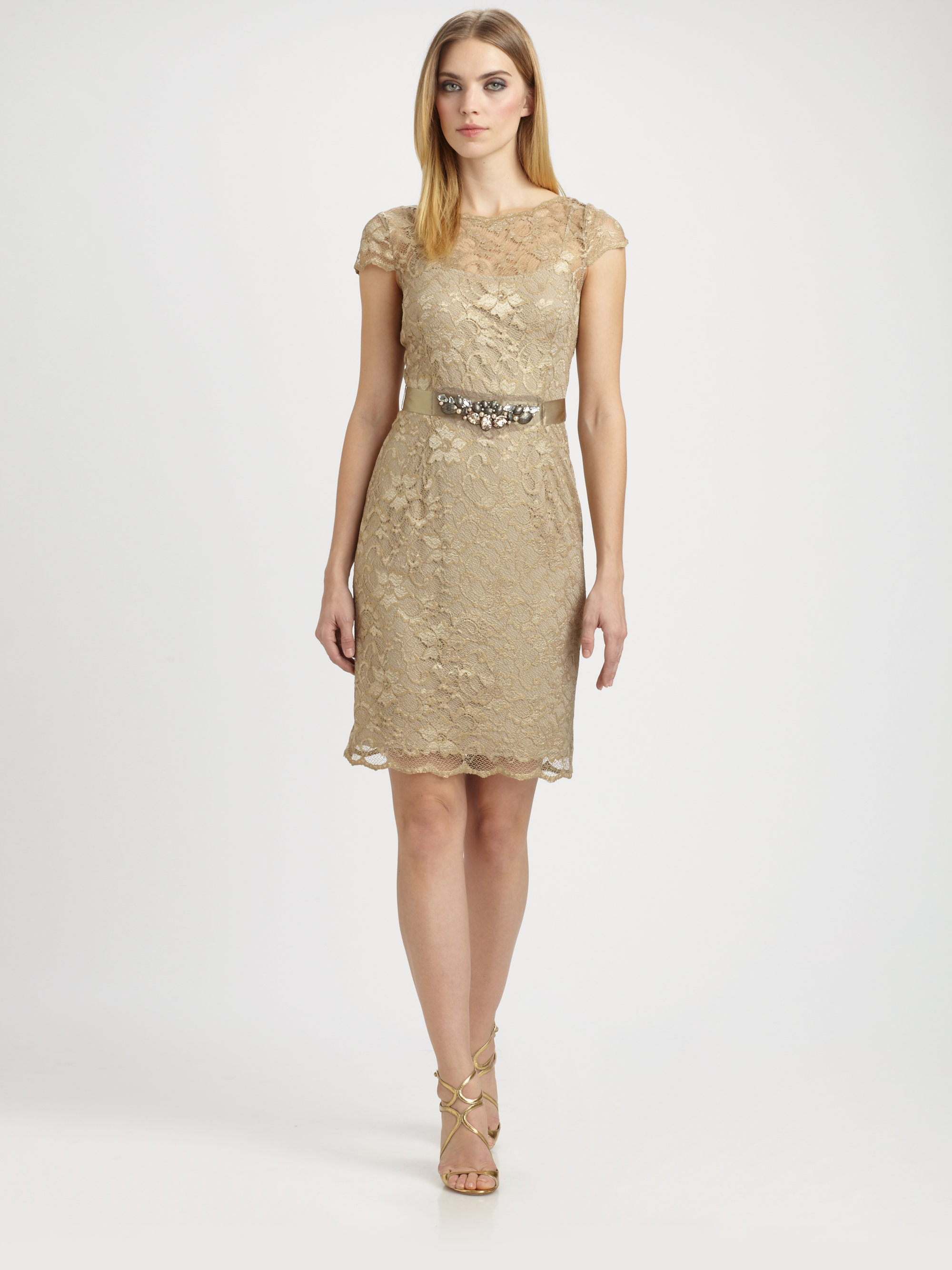 Gold Lace Dresses Ejn Dress