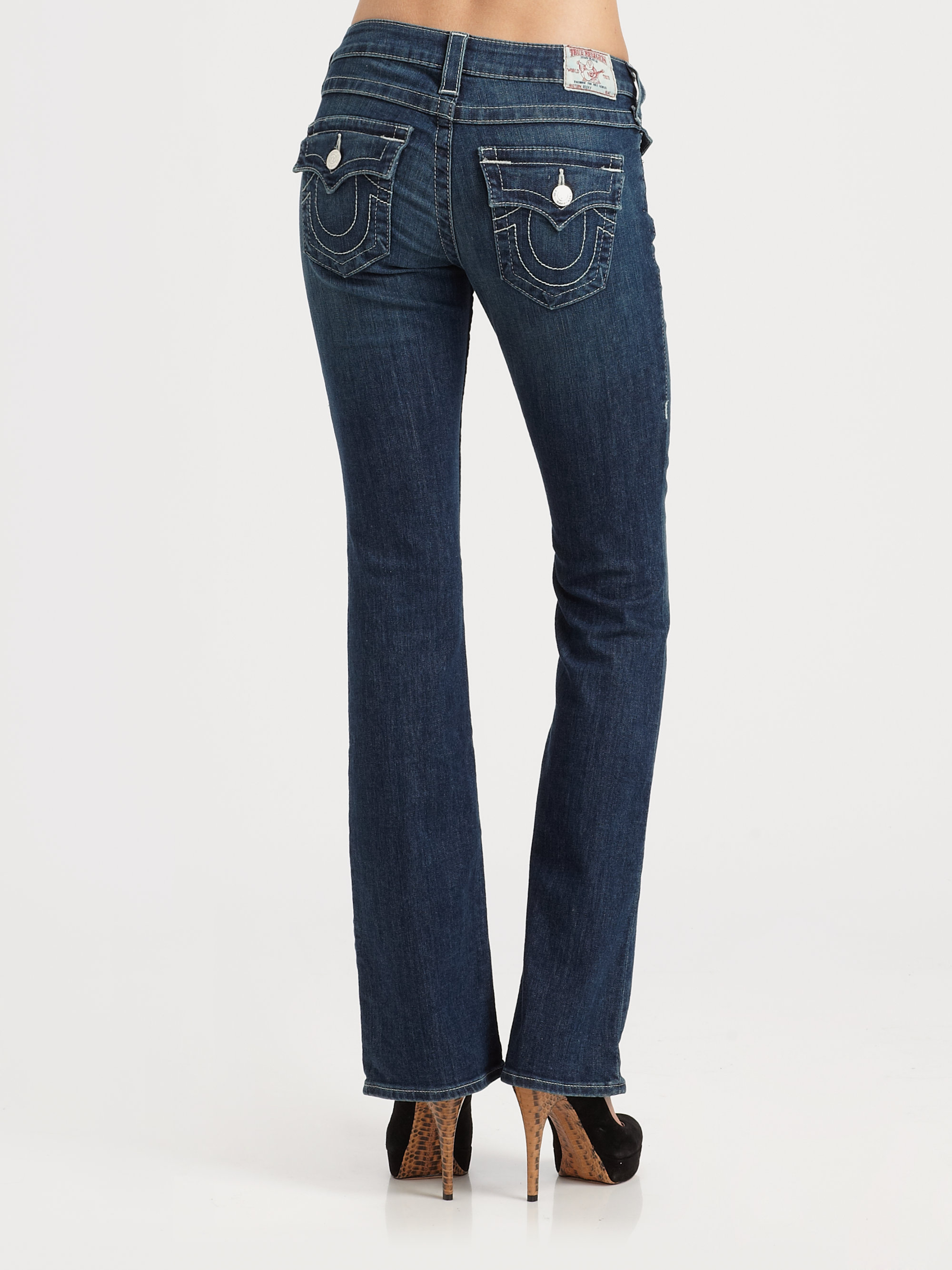 true religion becky bootcut jeans in blue lyst. Black Bedroom Furniture Sets. Home Design Ideas