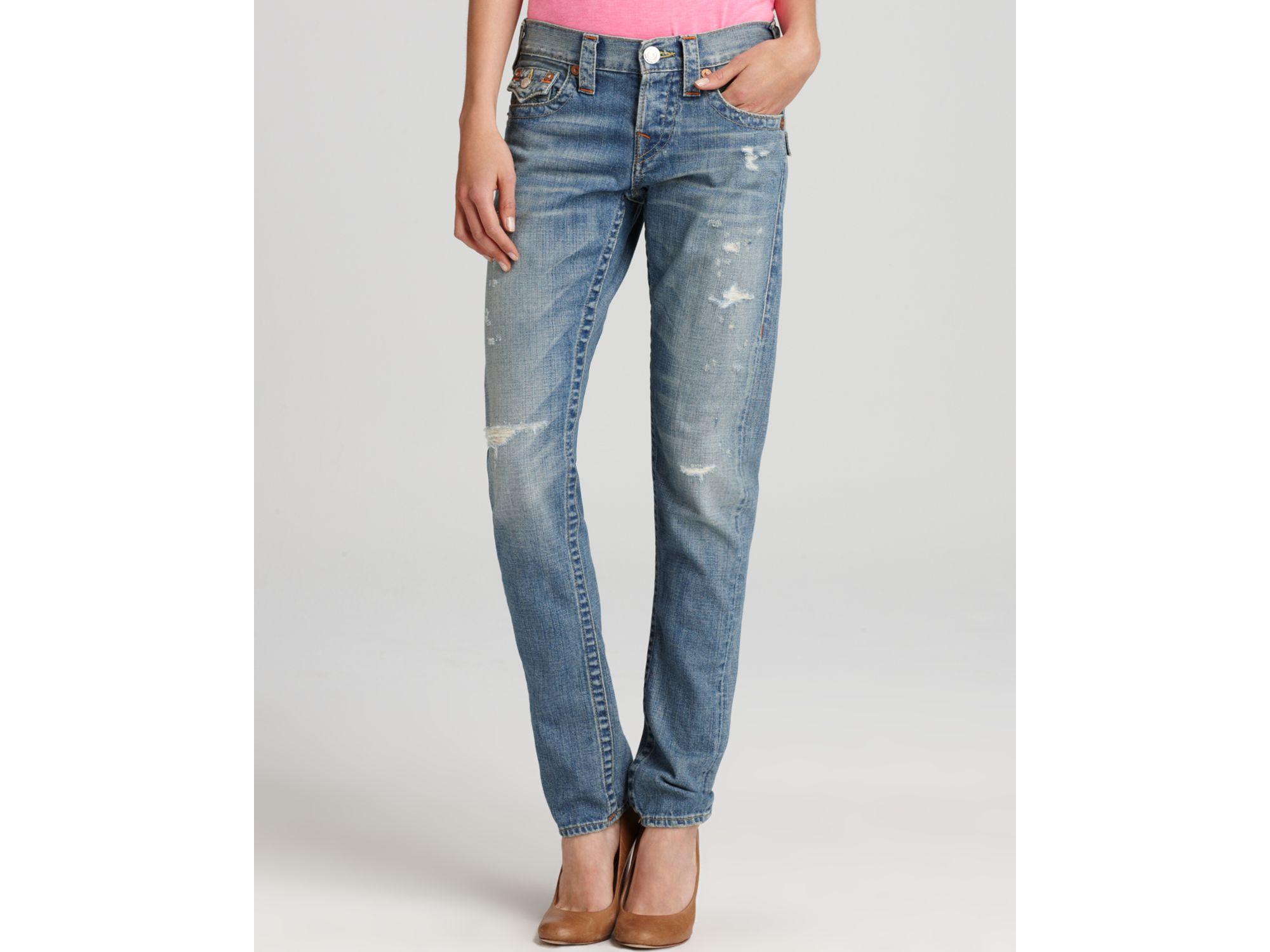1132ceaa0f5c Lyst - True Religion Jeans Cameron Slim Boyfriend in Wagoneer in Blue