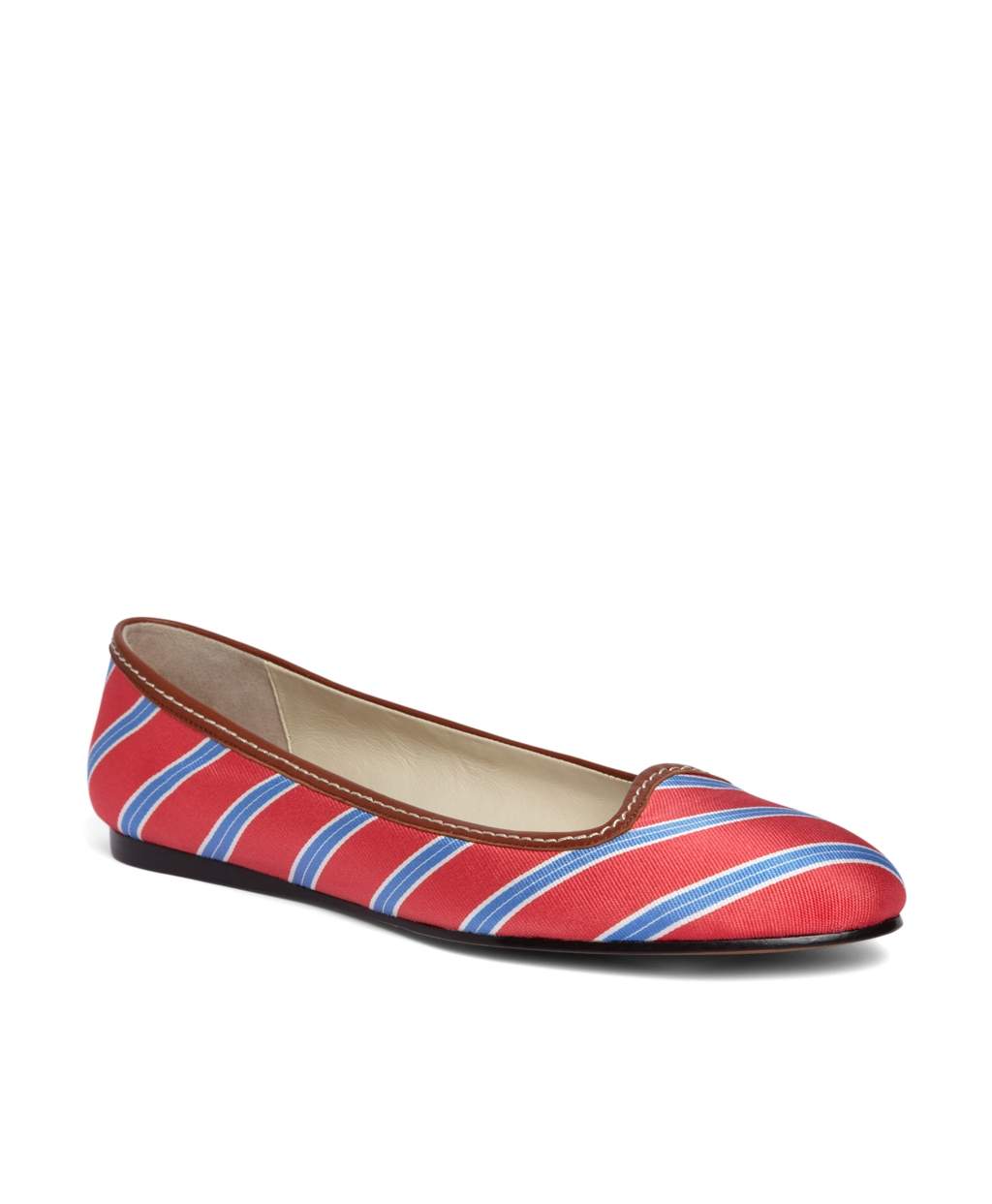Brooks Brothers Silk Tie Striped Ballet Flat In Pink Lyst