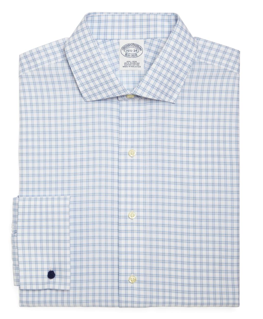 Lyst brooks brothers supima cotton non iron regular fit for Supima cotton dress shirts