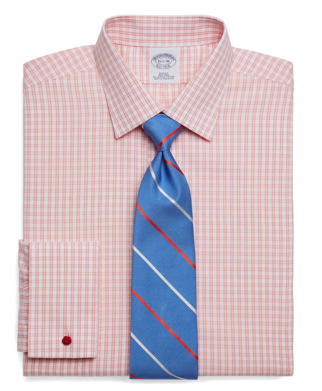 Brooks Brothers Supima Cotton Noniron Slim Fit Windowpane