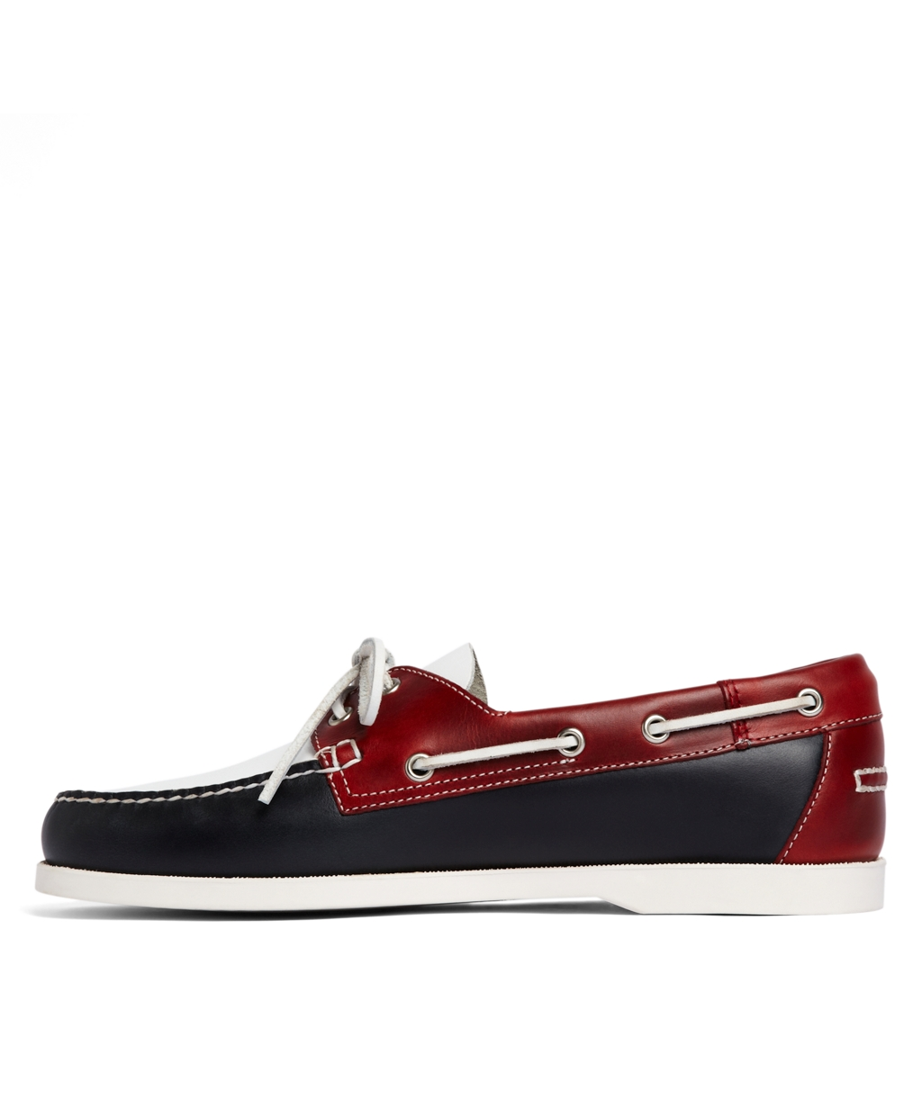 86b4d6574db Lyst - Brooks Brothers Colorblock Boat Shoe in Red for Men