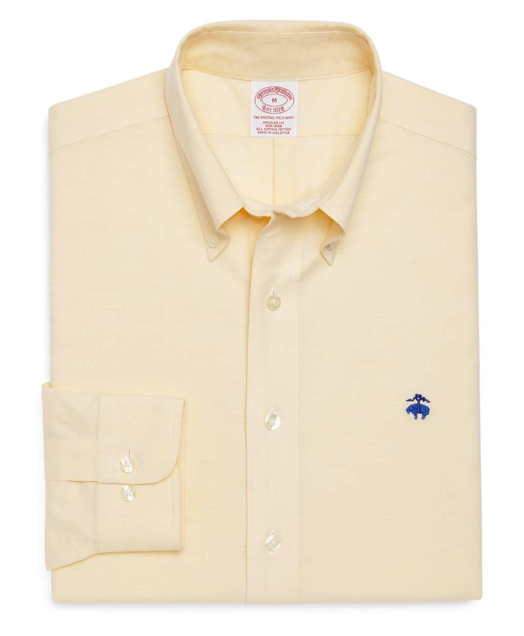 Brooks brothers regular fit brookscool solid oxford sport for Brooks brothers dress shirt fit guide