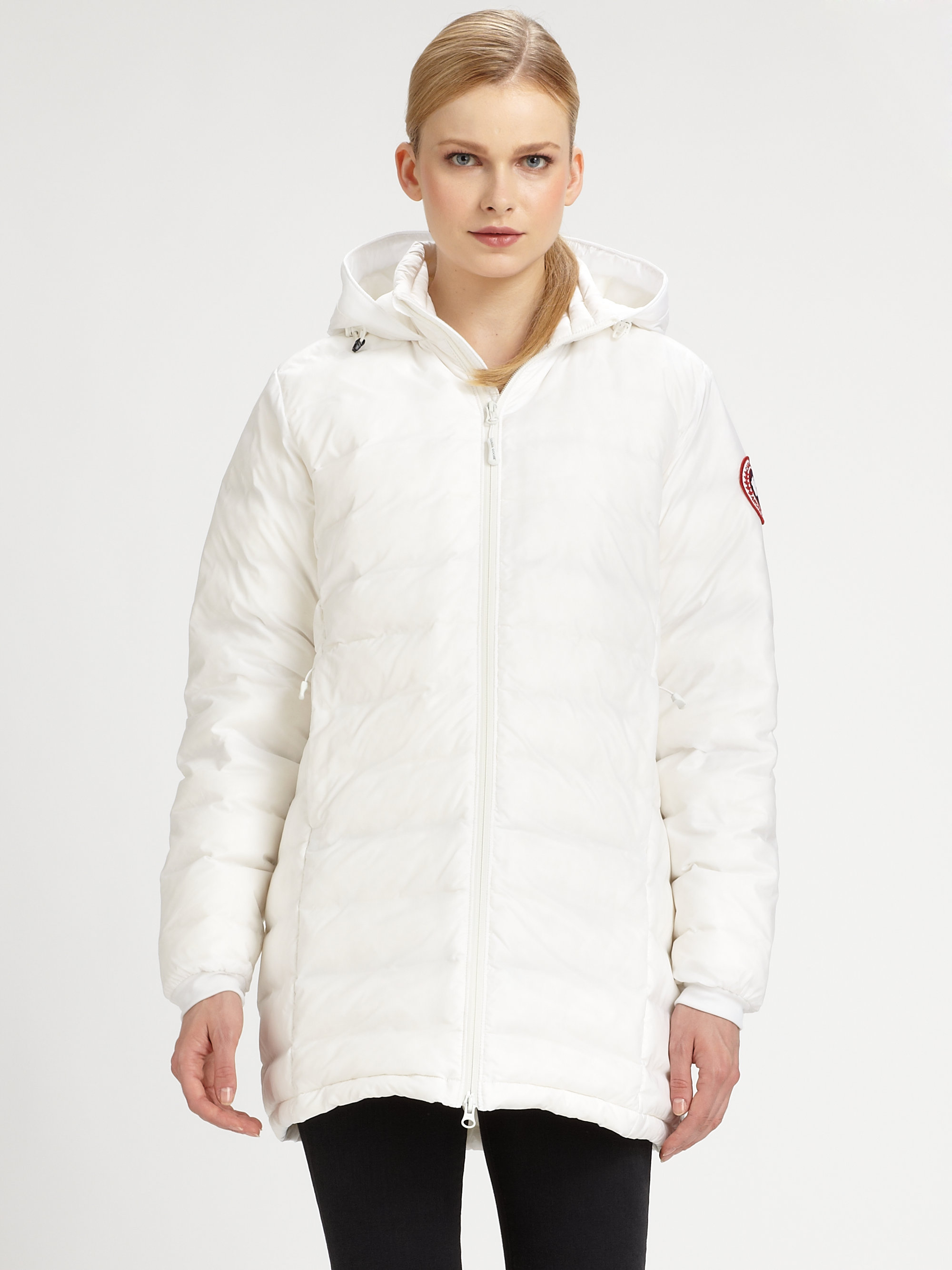 Canada Goose jackets outlet authentic - Canada goose Camp Hooded Jacket in White | Lyst