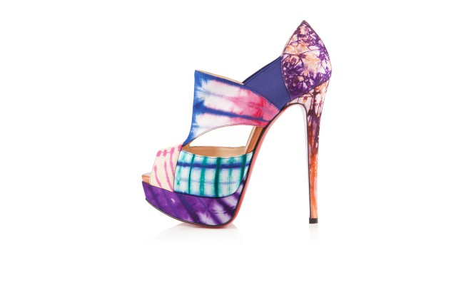 spiked loafers mens christian louboutin - christian louboutin Pitou Multicolored Tie-Dyed canvas platform ...