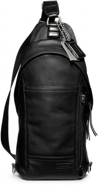 Coach Thompson Leather Convertible Sling Pack in Black for ...