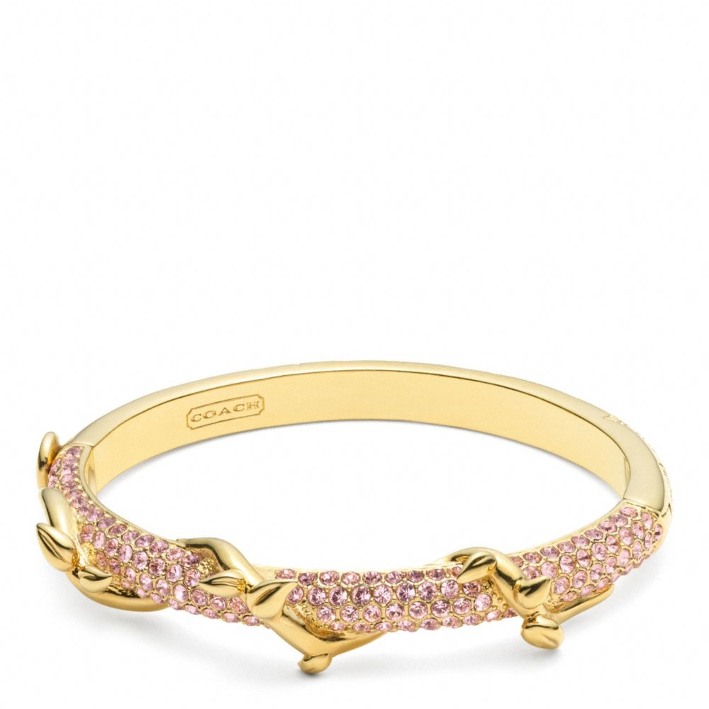 Lyst Coach Pave Vine Hinged Bracelet In Pink