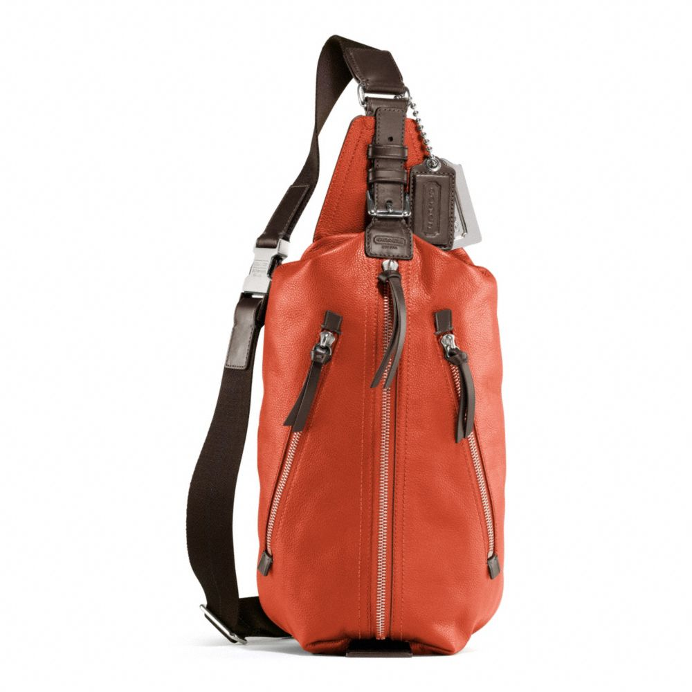 Coach Thompson Leather Sling Pack in Orange (persimmon) | Lyst