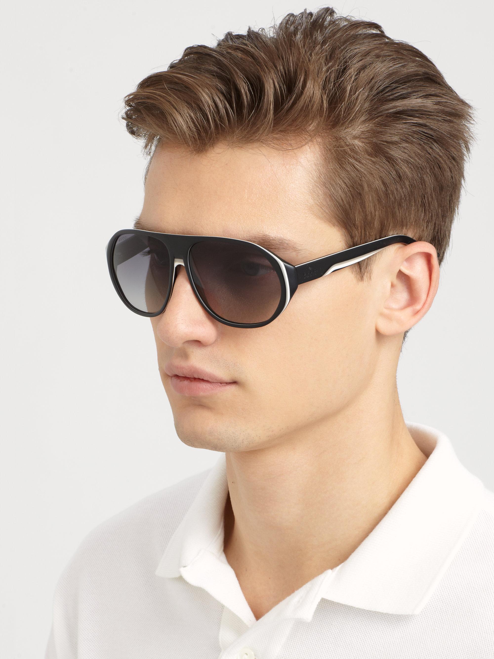 Aviator Oversized Sunglasses  gucci oversized plastic sunglasses in black for men lyst