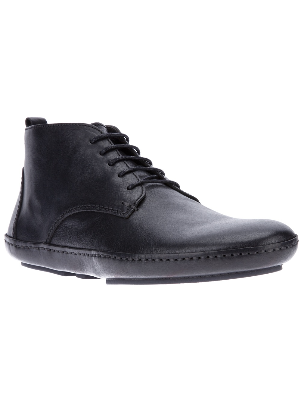 Lanvin Lace Up Ankle Boot in Black for Men