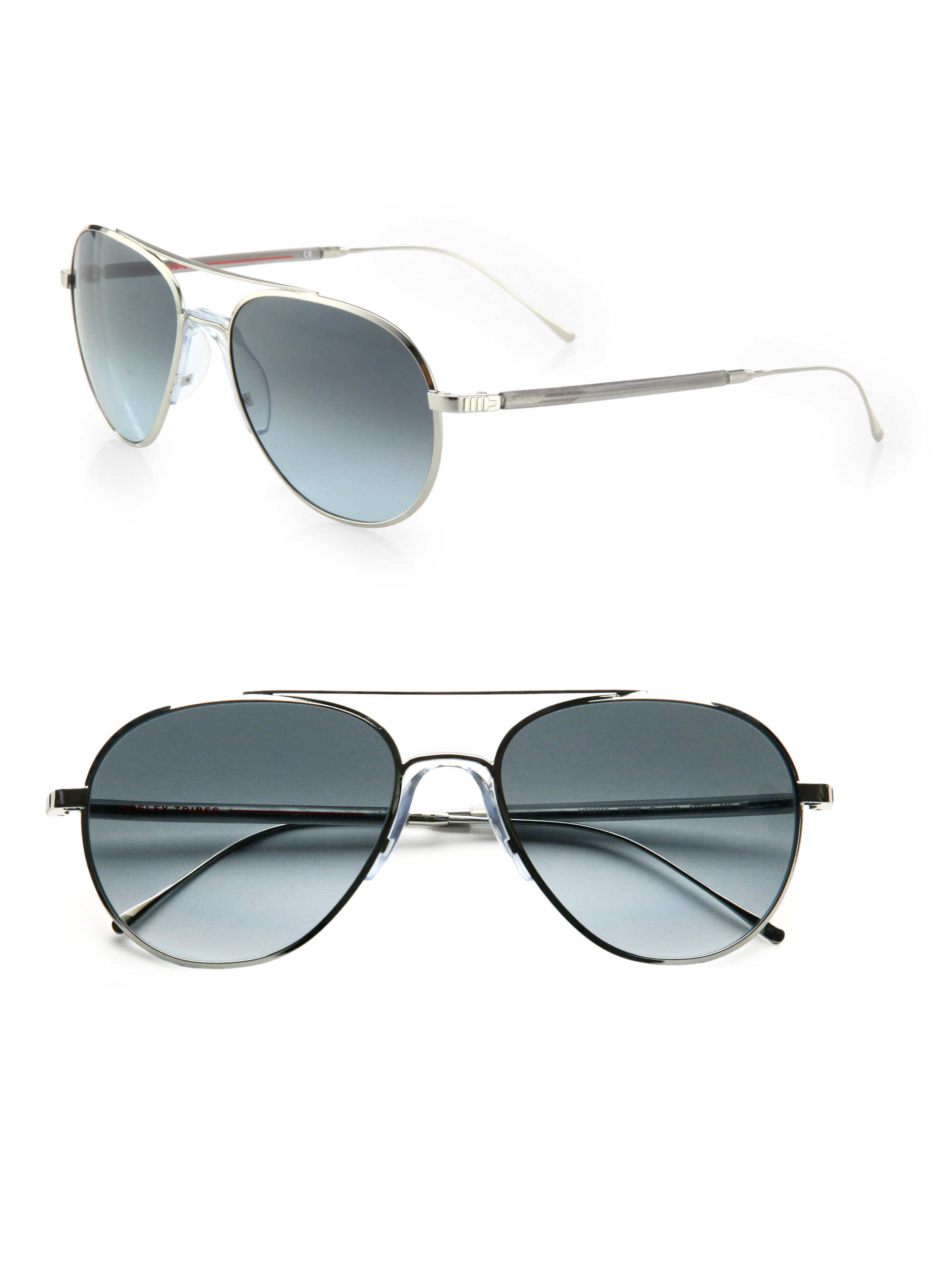 a773c951567 Lyst - Mosley Tribes Reynolds Metal Sunglasses in Metallic for Men