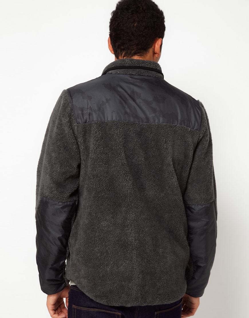 nike polar tech fleece jacket in gray for men lyst. Black Bedroom Furniture Sets. Home Design Ideas
