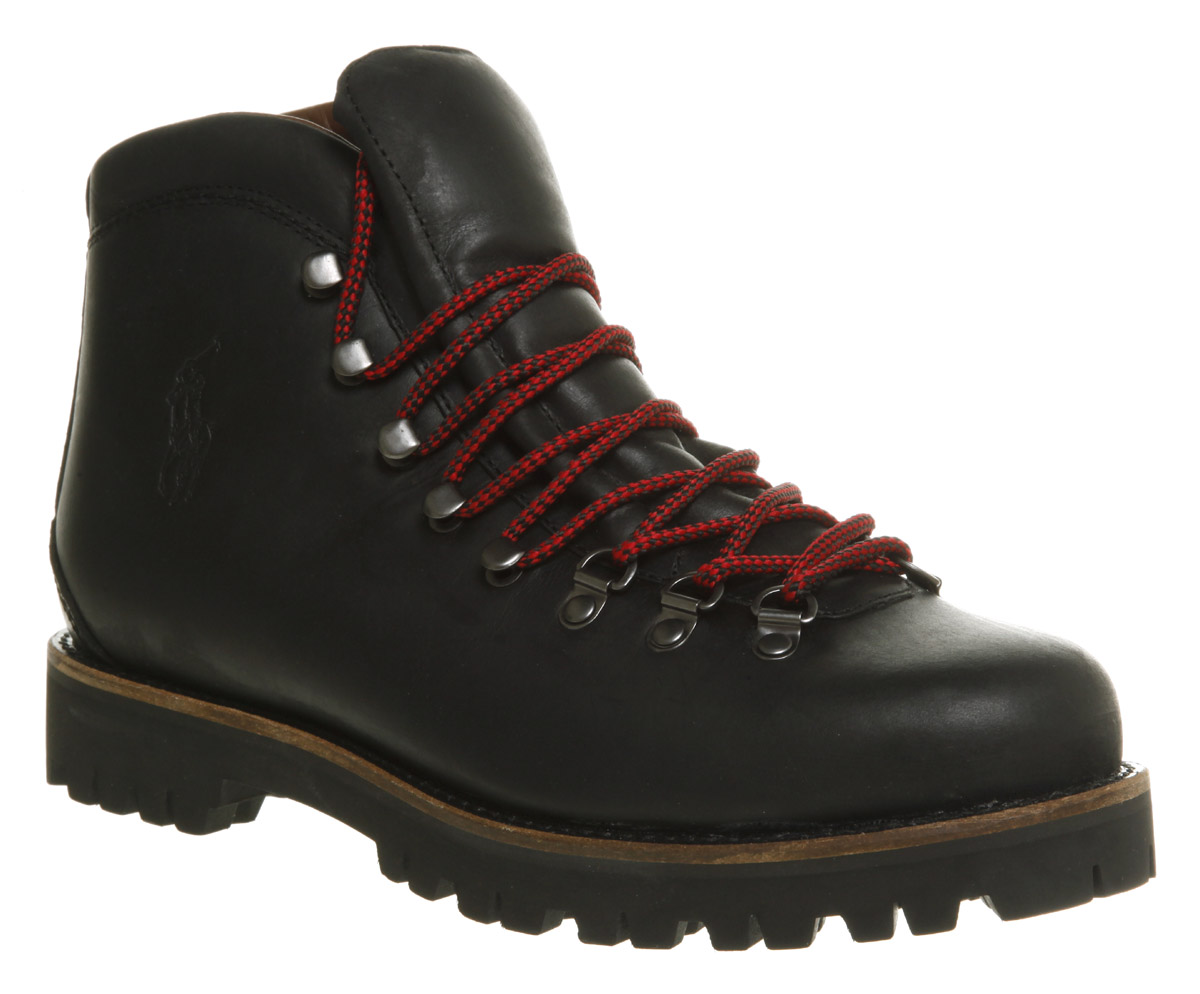 a8b3f98dde9 Ralph Lauren Acworth Hiker Black Leather for men