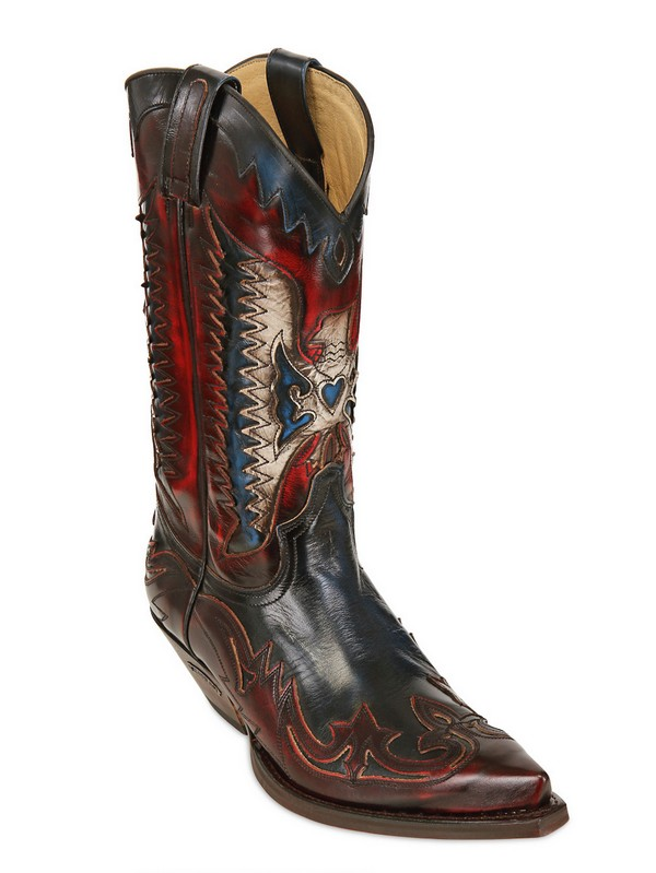 Sendra 40mm Leather Cowboy Boots In Red Lyst