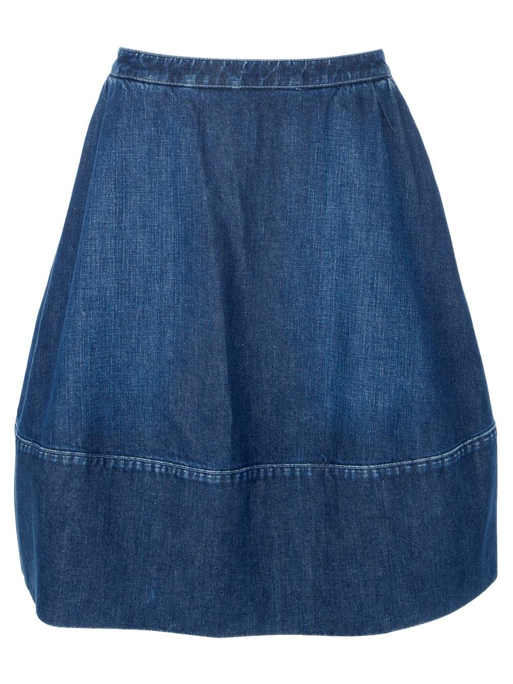 stella mccartney gonna denim skirt in blue lyst