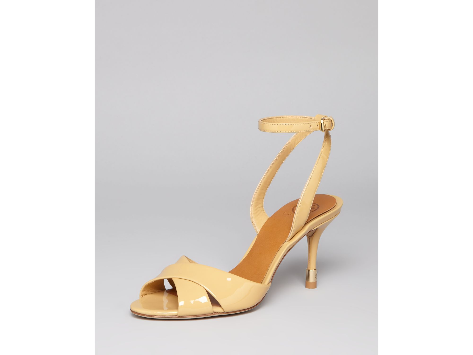 ebadb290680a Lyst - Tory Burch Sandals Tania High Heel in Natural