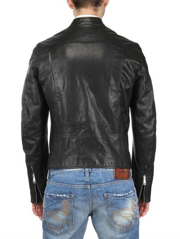 Lyst Dsquared 178 Dan Biker Leather Jacket In Black For Men