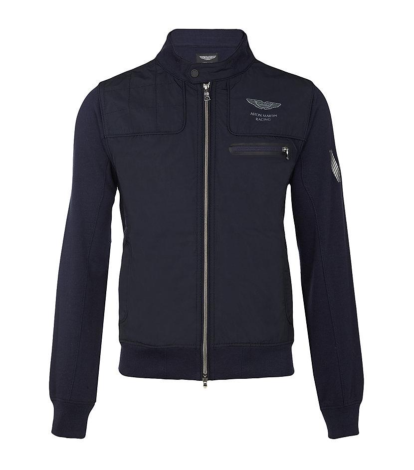 hackett aston martin racing jacket in blue for men lyst. Black Bedroom Furniture Sets. Home Design Ideas