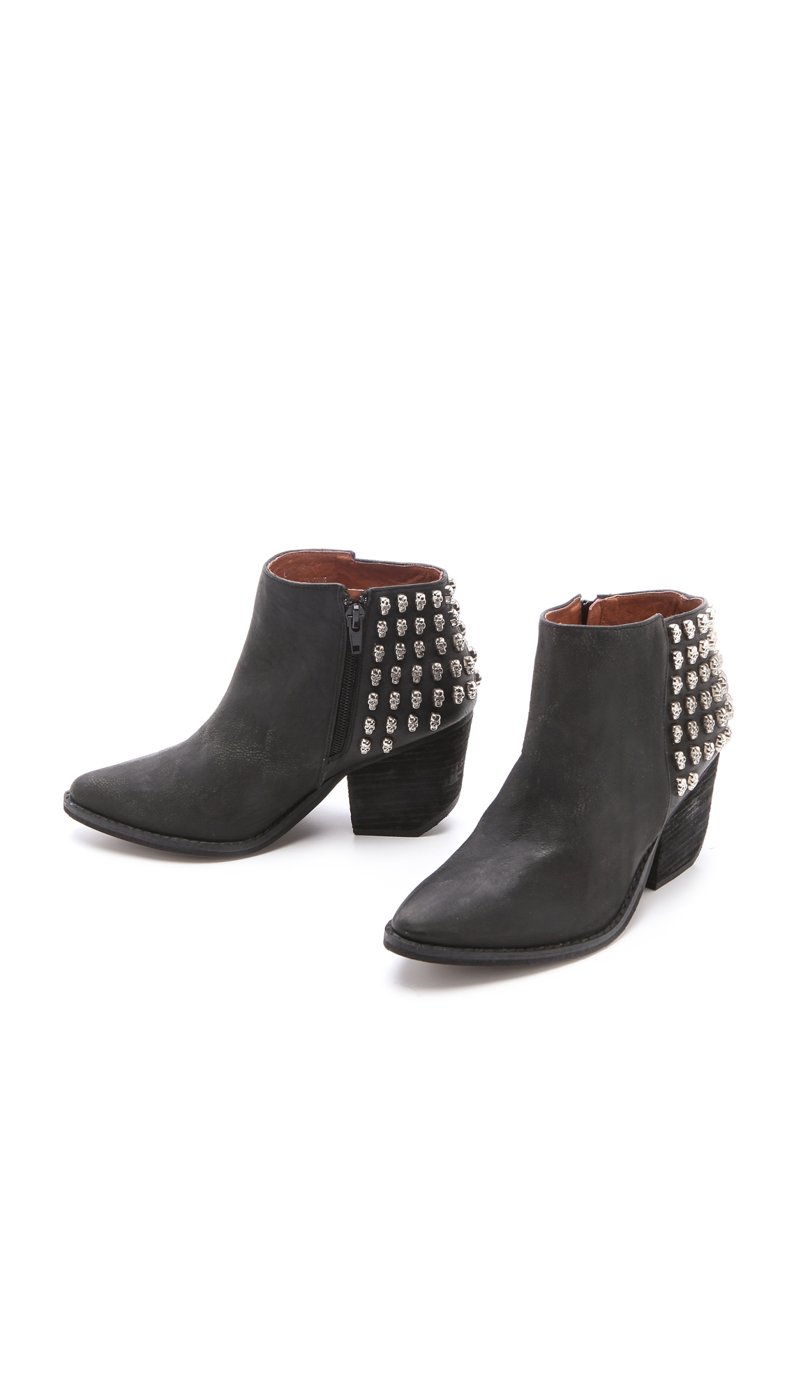 Lyst Jeffrey Campbell Doa Skull Stud Booties In Black