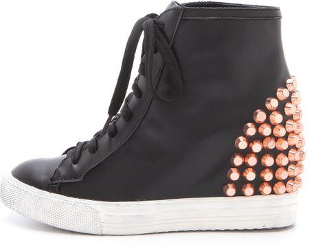 Jeffrey Campbell Edea Stud Wedge Sneakers in Black - Lyst